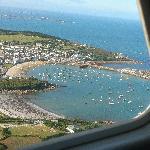 An aerial view of Hugh Town