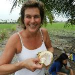 Fresh coconut for lunch!