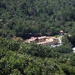 il residence visto da castel del piano