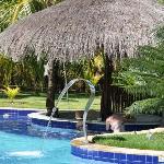 O bar da piscina