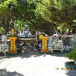 La vista del restaurante (Catedral de Ahuachapan