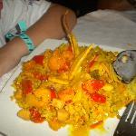 Plato de mariscos, cocina caribeña