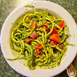 Join the Raw Foodies at Living Light for a delicious meal of zucchini pasta with basil pesto sau