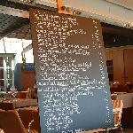 L'originale menu sulla lavagna