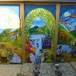 Mural at hotel