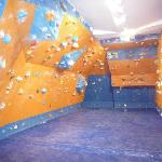 Part of the indoor climbing wall