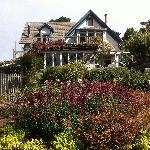 View of the main house from the beach path