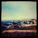 View of bluffs at Glass Beach