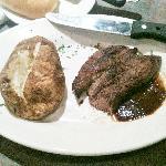 medium-well steak