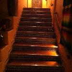 The Golden Stairway to our room