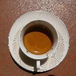 que hermosa crema del espresso!