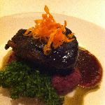 the filet with infamous purple potatoes