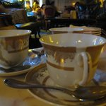 The elegant tea cups