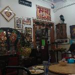 Restaurant Interior – Door leads to small Peranakan delicacies section where the cashier is. Far