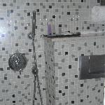 shower/toilet area