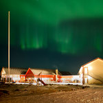Northern light at Sommarøy Arctic Hotel