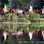 Horseback riding at Estância Mimosa, Bonito, MS