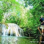 Trail and wtaerfalls at Estância Mimosa, Bonito, MS
