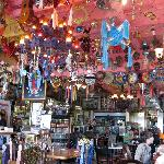 Knick-knacks gallore, hanging from the ceiling