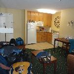 Living area & kitchenette
