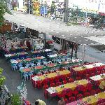 Seafood street restaurants.