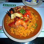 Altuna's epic portion of paella--wow--for $8 USD