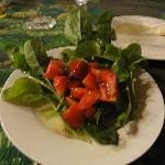 amazing fresh strawberry, arugula, tomato salad