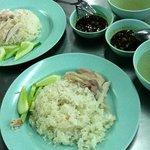 Steam Chicken rice ..