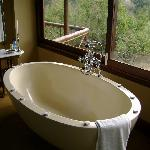 bath tub with a view over Sabie River