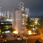 view from warringa balcony at night