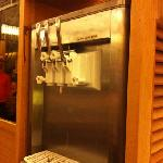 ice cream machine. japanese rice & chocolate flavor