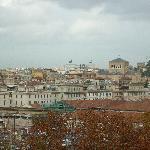panorama di roma dalla stanza