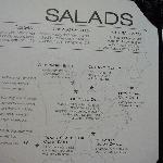MENU Salads & dogs