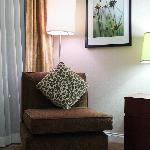 Lounge chair in room