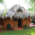 Our bungalow at El Sol Azul Guesthouse in Las Galeras, Dominican Republic.