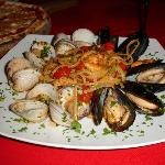 Mussel and Clam pasta, excellent!