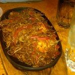 ANoodle & Shrimp dish - dry, viid of flavor