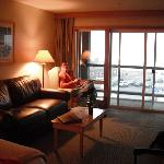 Sitting area in room.