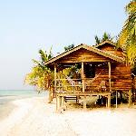 Nice bungalows right on the beach