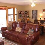 The Hacienda del Colorado has a nice cozy living area to relax in when your not relaxing on the