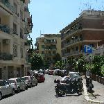 A block from hotel, from Via Giulio de Petra.