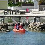Kayaking to the reef