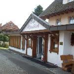 Eingang zum Cafe Alpenblick
