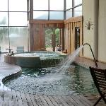 indoor pool with warm water