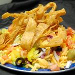 Taco salad with honey chipotle ranch