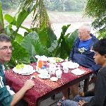 breakfast overlooking Nam Khan river