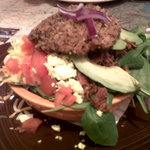 The Twisted Cobb salad tightly packed