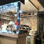 The bar with Xmas decoration