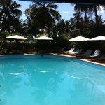 petit déjeuner au bord de la piscine... un moment inoubliable!