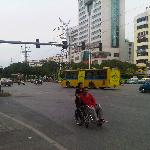 road infront hotel